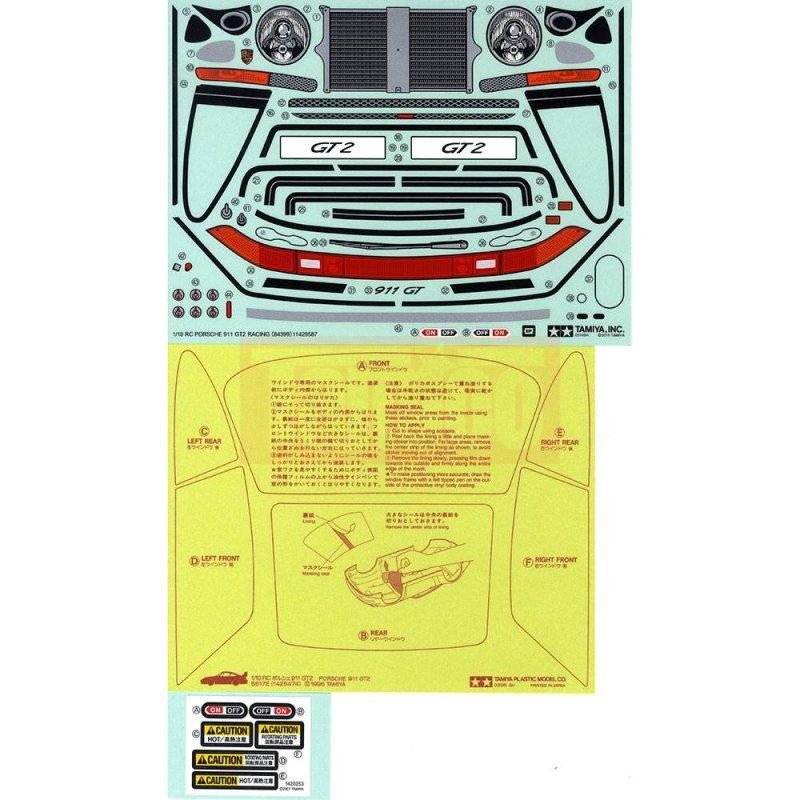 tamiya aufkleber sticker porsche 911 gt2 1 10. Black Bedroom Furniture Sets. Home Design Ideas