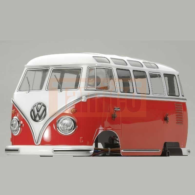 tamiya karosserie satz vw t1 bus wheelie wr 02 chassis 51475. Black Bedroom Furniture Sets. Home Design Ideas