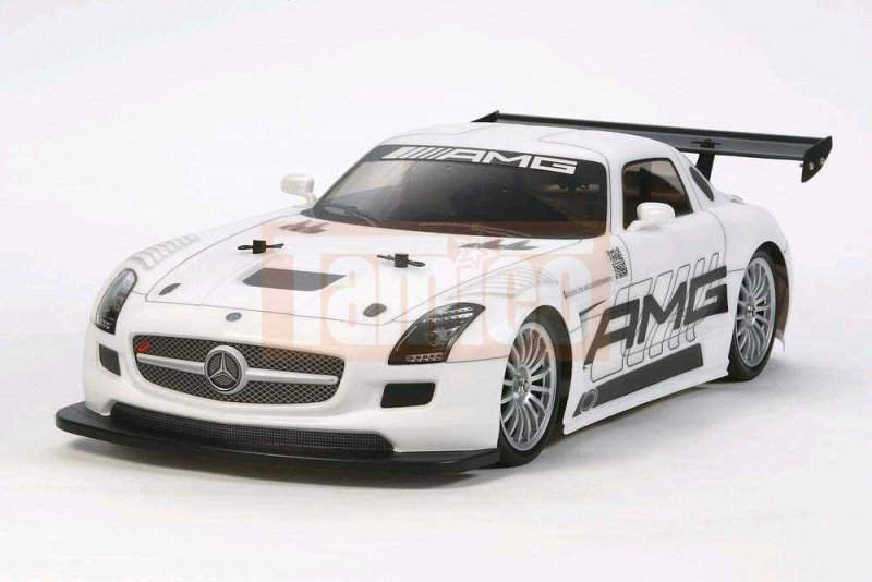 tamiya mercedes benz sls amg gt3 tt 02 bausatz 58566. Black Bedroom Furniture Sets. Home Design Ideas