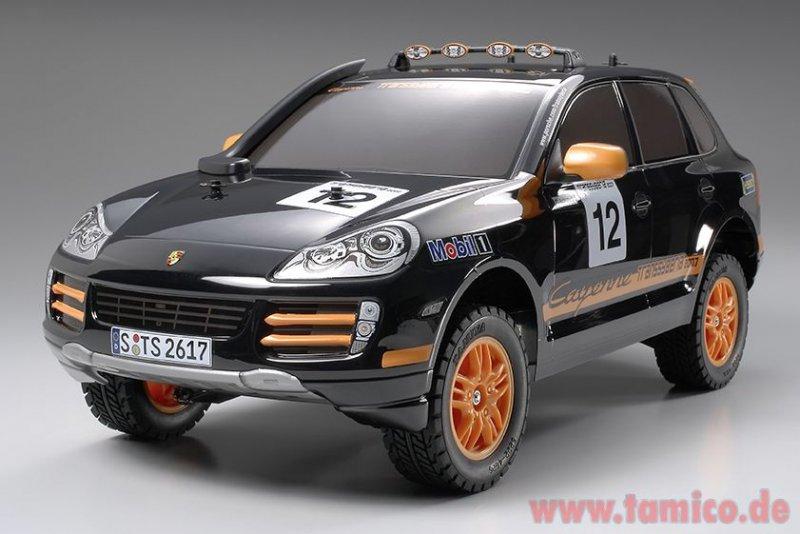 tamiya porsche cayenne s transsyberia bausatz 58406. Black Bedroom Furniture Sets. Home Design Ideas