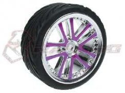 3Racing 1/10 5 Dual Spoke Rim & Tyre-Satz On Road (0...