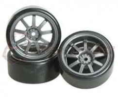 3Racing 1/10 9 Spoke Wheel & Tyre-Satz für Drift(5mm...