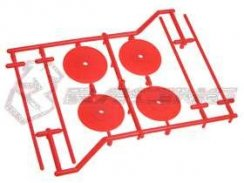 3Racing 1/10 Type-Satz Holder (4  Stk.) - Orange