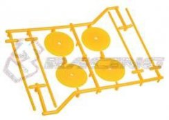 3Racing 1/10 Type-Satz Holder (4  Stk.) - Yellow