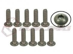 3Racing #4-40 x 3/8 Titan Button Head Hex Socket -...