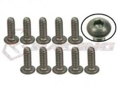 3Racing #4-40 x 5/16 Titan Button Head Hex Socket -...