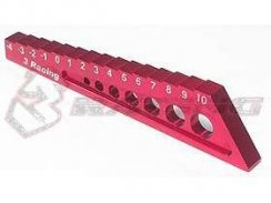 3Racing Chassis Droop Gauge -4 to 10mm - Red