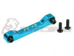 3Racing Front Alu Suspension Mount (FF/3 Degree) für TA-05