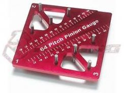 3Racing Pinion & Camber Gauge - Red