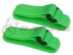 3Racing Short Battery Straps (20cm) - Neon Green