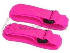 3Racing Short Battery Straps (20cm) - Neon Pink