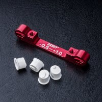 Adjustable alum. suspension mount (-0.5-+1.0) (red)