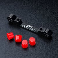 Adjustable alum. suspension mount (+1.5-+3.0) (black)