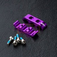 Alum. 3 wires clamps (purple)