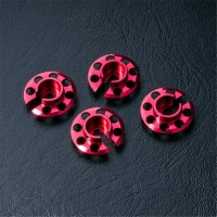 Alum. spring retainer (red) (4)