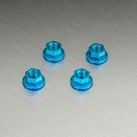 Alum. wheel nut (blue) (4)