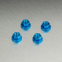 Alum. wheel nut (dark blue) (4)