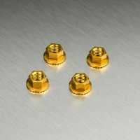 Alum. wheel nut (gold) (4)