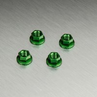Alum. wheel nut (green) (4)