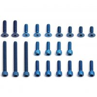 FT Blue Aluminum Screw Set, RC10B2 / B3 Buggy