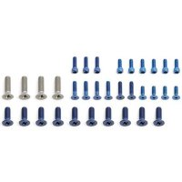 FT Blue Aluminum Screw Set, RC10LS/LSO