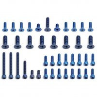 FT Blue Aluminum Screw Set, RC10T2 Truck