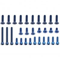 FT Blue Aluminum Screw Set, RC10T3 Truck