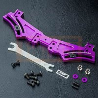 FXX Alum. rear quick adj. damper stay (purple)