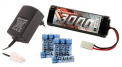 Robitronic Elektro Starter-Kit (Lader, 7.2V Stickpack,...
