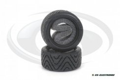 Shimizu Treaded Tyres for Tamiya Mini, M-Chassis -Hard-