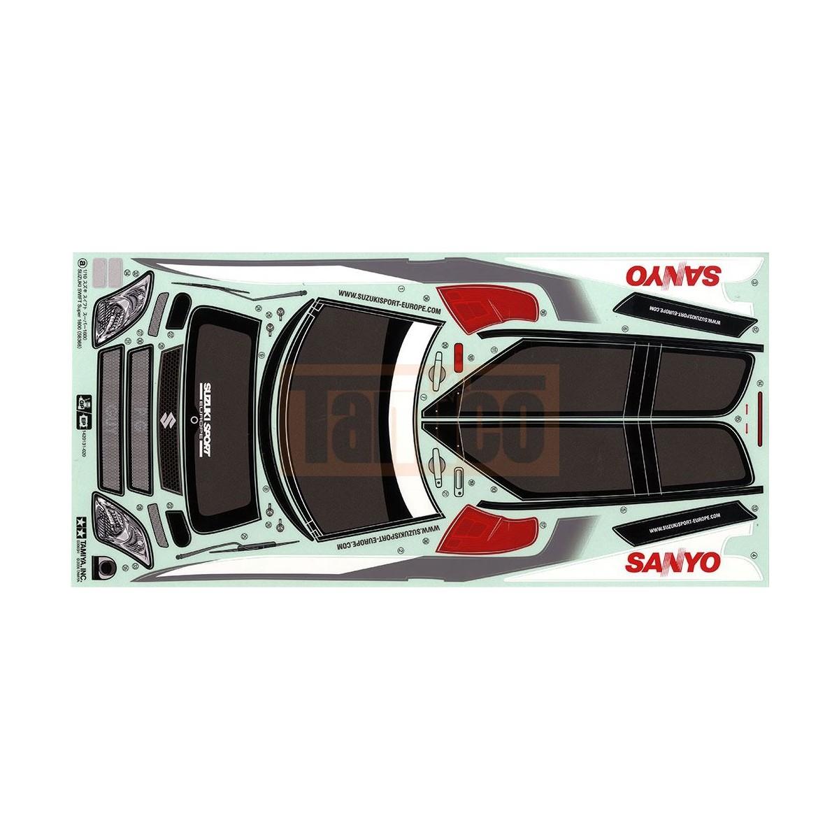 Tamiya Aufkleber Suzuki Swift Super 1600 M Chassis 19400397