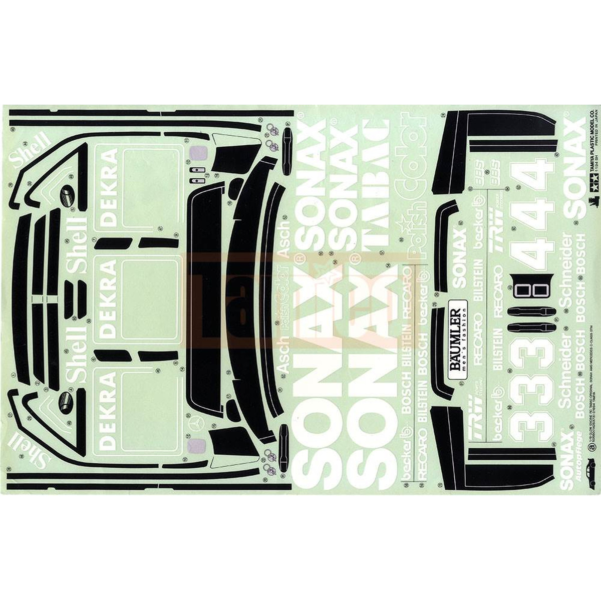 Tamiya Aufkleber Amg Mercedes Benz Dtm Sonax 18 19495200