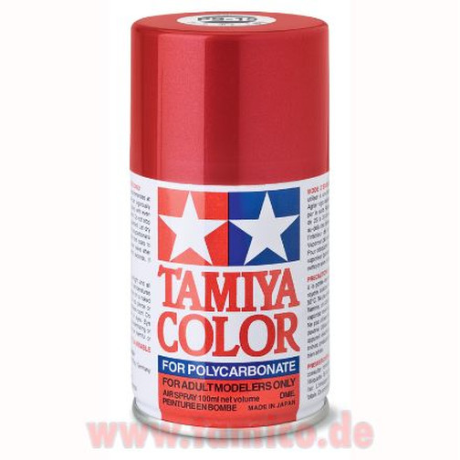 Tamiya Lexan Spray Dose PS-15 Metallic Rot / Red  Farbspray