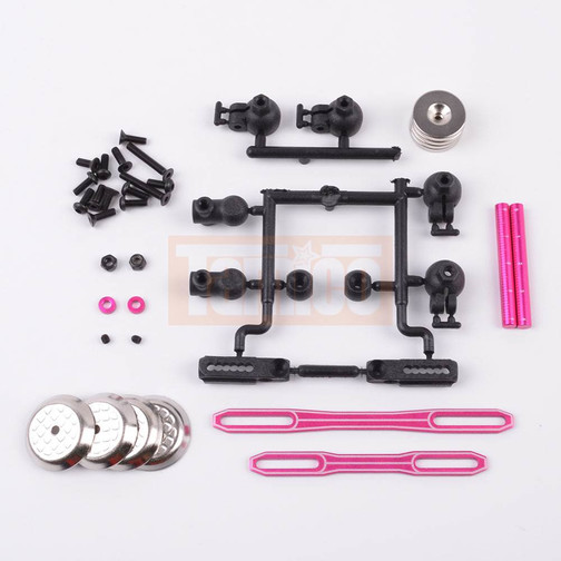 3Racing Mutiple Drift Body Mount For D4 pink