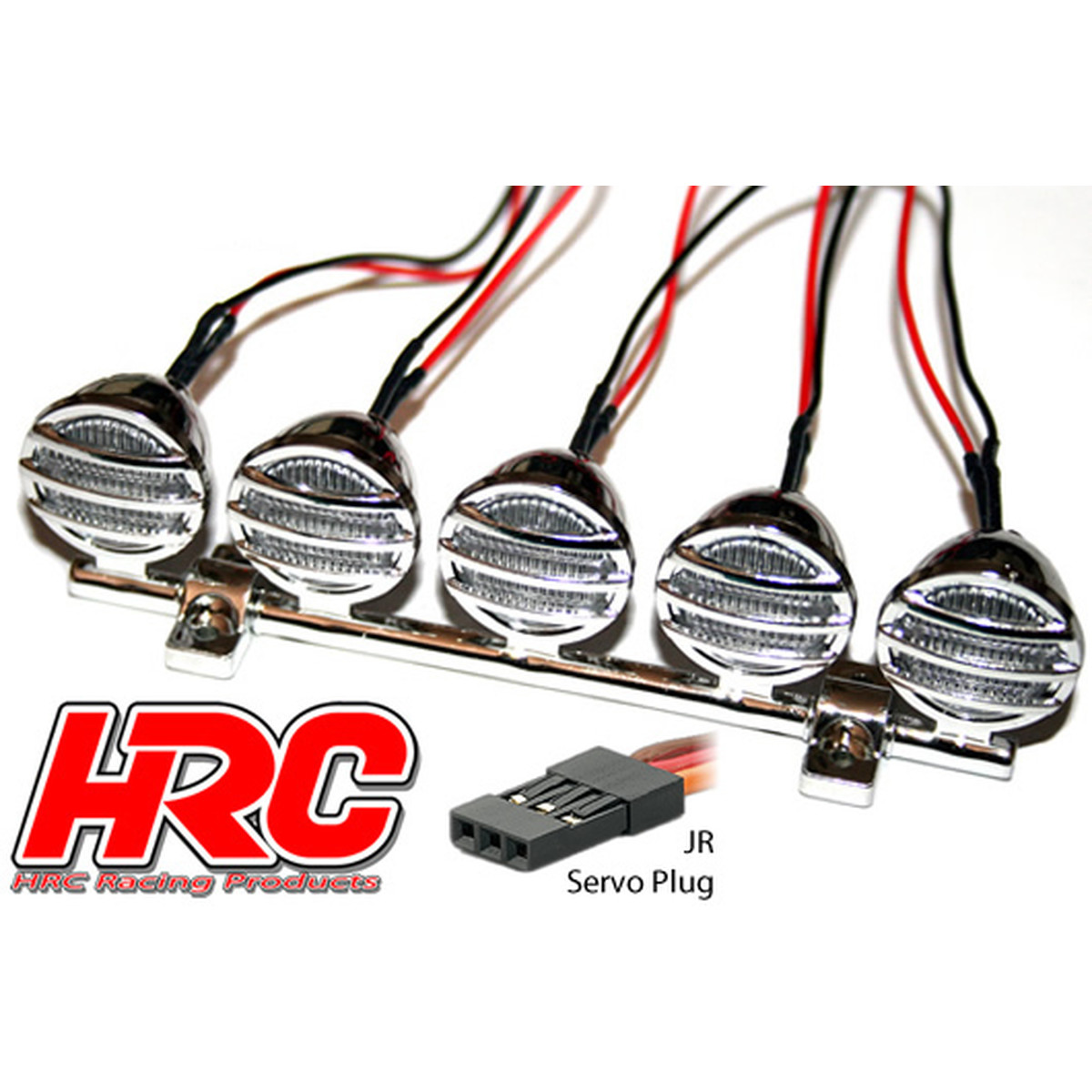 Hrc Racing Light Kit 1 10 Or Monster Truck Led Jr Plug Roof O Wiring Schematic For The Plugs Of Four Major Servo Manufacturers