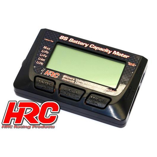 HRC Racing Battery Analyzer - 1~8S - Checker & Balancer & Servo Tester
