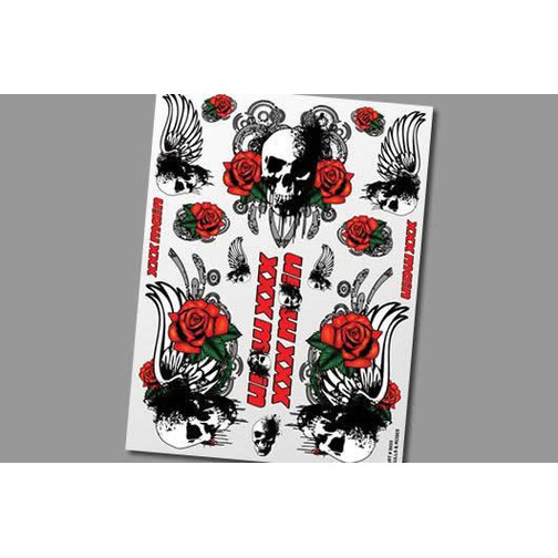 XXX Main Stickers - Skulls & Roses