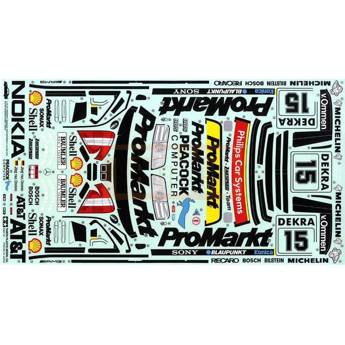 Tamiya 19494204 Aufklebersticker Promarkt Amg Mercedes