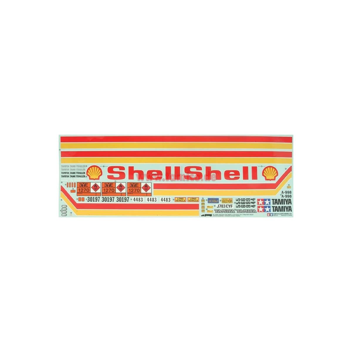 Tamiya 19495183 Aufkleber Tank Auflieger Shell
