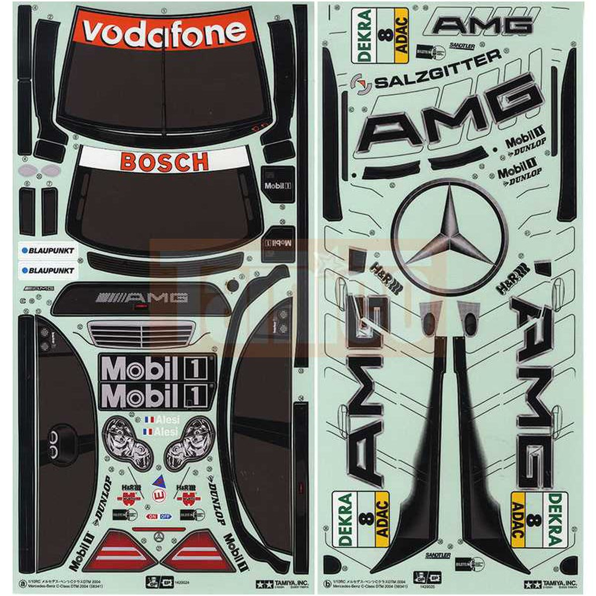 tamiya aufkleber mercedes benz c klasse 9495461. Black Bedroom Furniture Sets. Home Design Ideas