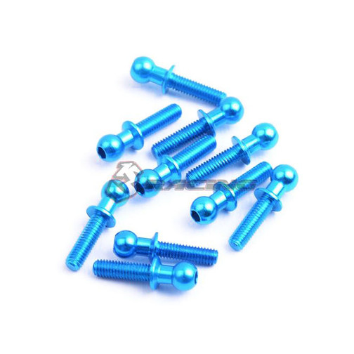 3Racing 4,8MM Ball Stud L=10 (10  Stk.) - Light Blue