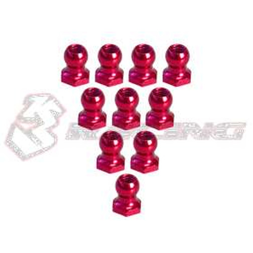 3Racing 4,8MM Hex Ball Stud L=5 (10  Stk.) - Red