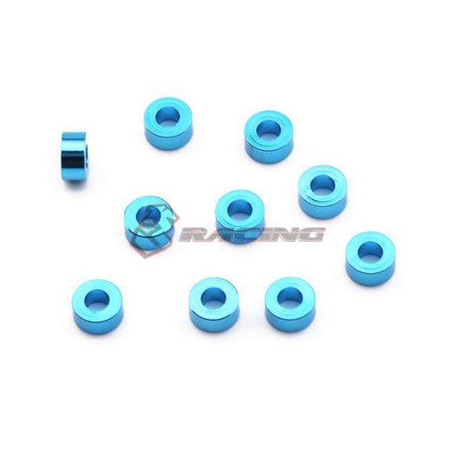 3Racing Aluminium M3 Flat Washer 3,0mm (10 Pcs) - Light Blue