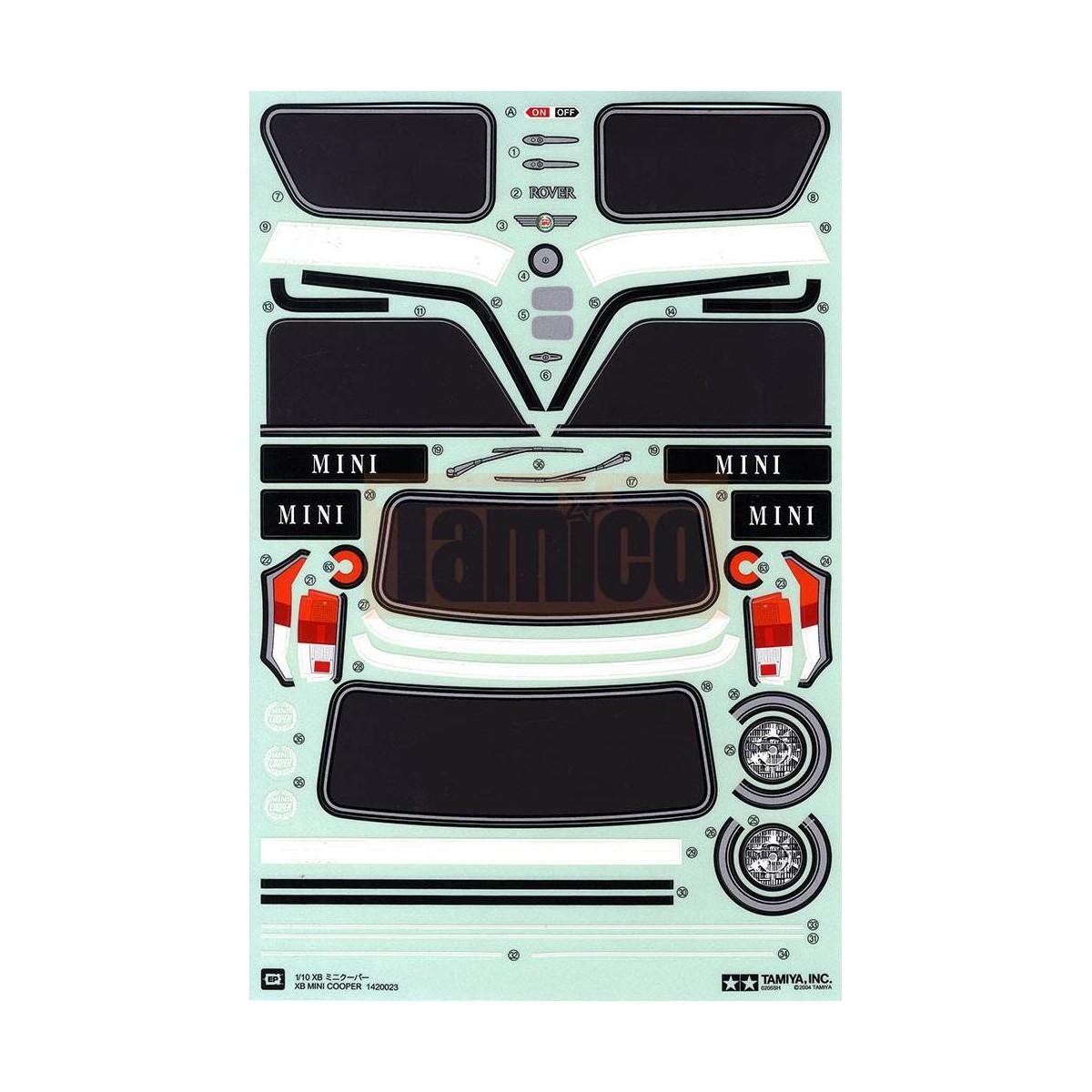 Tamiya Aufkleber Für Mini Cooper M Chassis