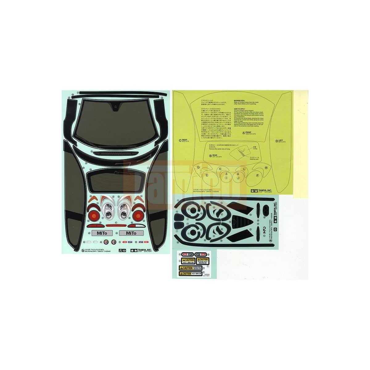 tamiya aufkleber alfa romeo mito 19495626. Black Bedroom Furniture Sets. Home Design Ideas